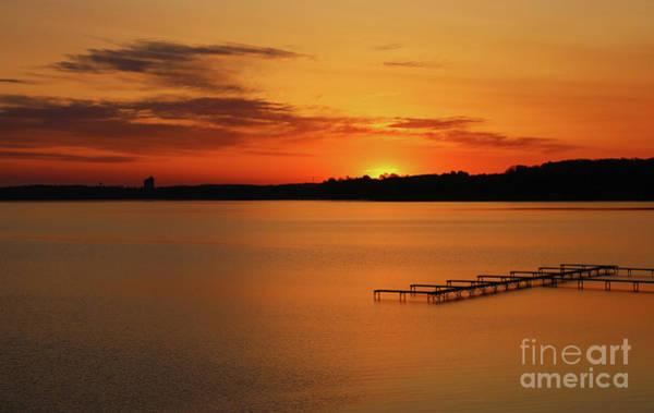 Photograph - Grand Traverse Bay Sunrise by Rachel Cohen