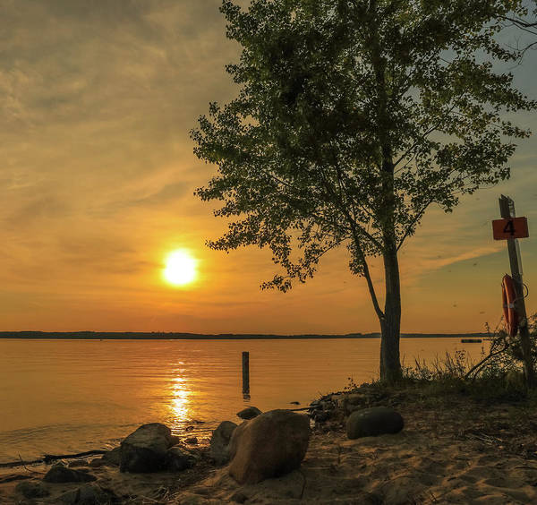 Photograph - Grand Traverse Bay Sunset by Dan Sproul