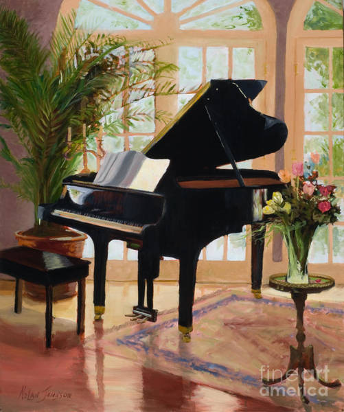 Grand Piano Painting - Grand View By Marilyn Nolan- Johnson by Marilyn Nolan-Johnson