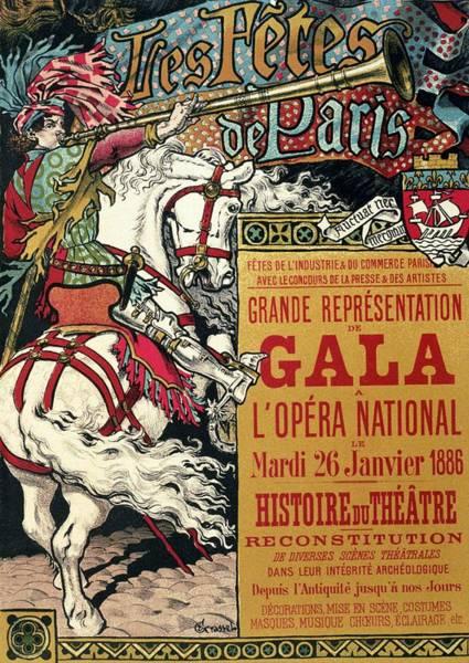 Gala Wall Art - Mixed Media - Grande Representation De Gala - Festival Of Paris - Retro Travel Poster - Vintage Poster by Studio Grafiikka