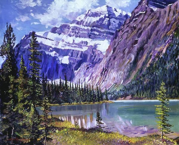 Mountain Lake Painting - Grandeur Of The Rockies by David Lloyd Glover