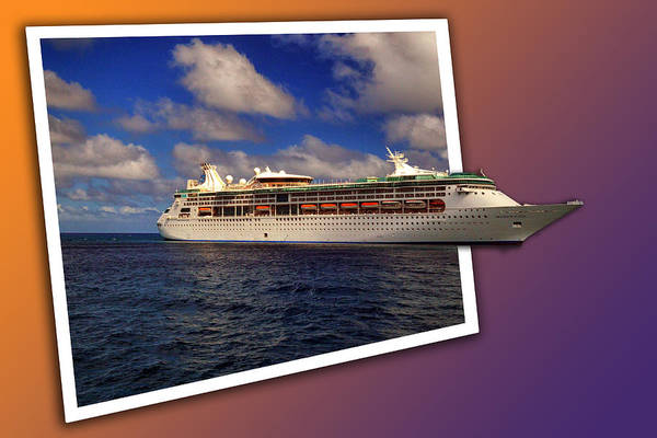 Photograph - Grandeur Of The Seas At Coco Cay by Bill Swartwout Photography