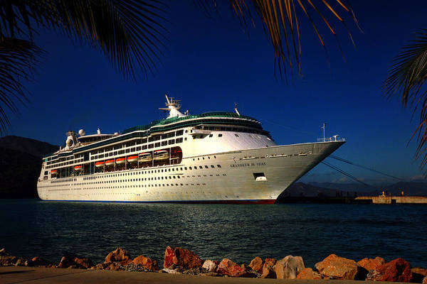 Photograph - Grandeur Of The Seas At Labadee Haiti by Bill Swartwout Photography