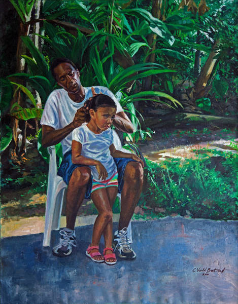 Braid Painting - Grandfather And Child by Colin Bootman
