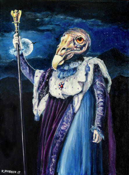 Painting - Grandfather Buzzard Cathartes Aura by Rick Mosher