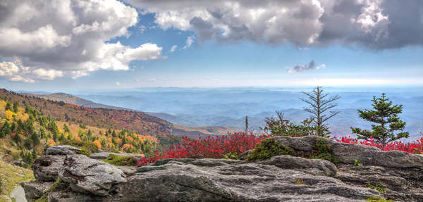 Photograph - Grandfather Mountain Panorama 02 by Jim Dollar