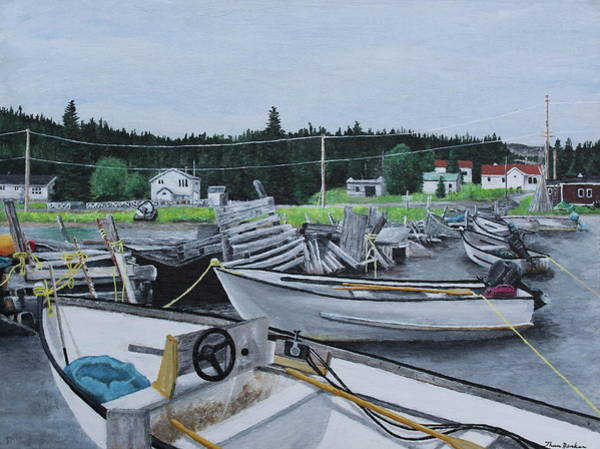 Painting - Grandfathers Wharf by Thom Barker