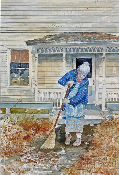 Painting - Grandma by Monte Toon