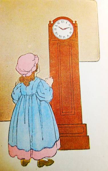 Mother Goose Drawing - Grandma's Clock by Lord Frederick Lyle Morris - Disabled Veteran