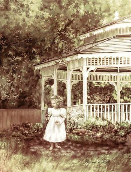 Digital Art - Grandmas' Garden by Bonnie Willis