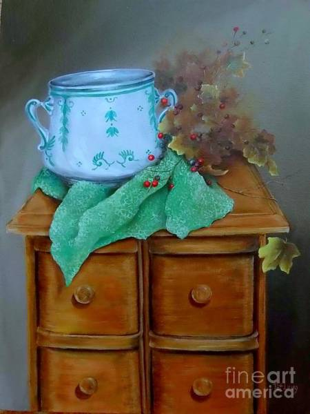 Wall Art - Painting - Grandma's Sewing Chest by Patricia Lang