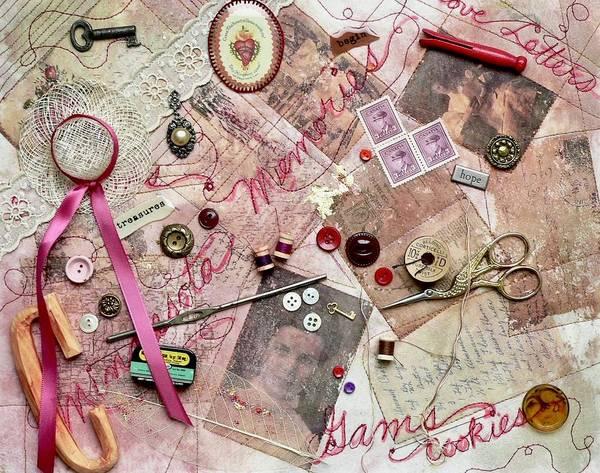 Tapestry - Textile - Grandma's Things by Pat Dolan