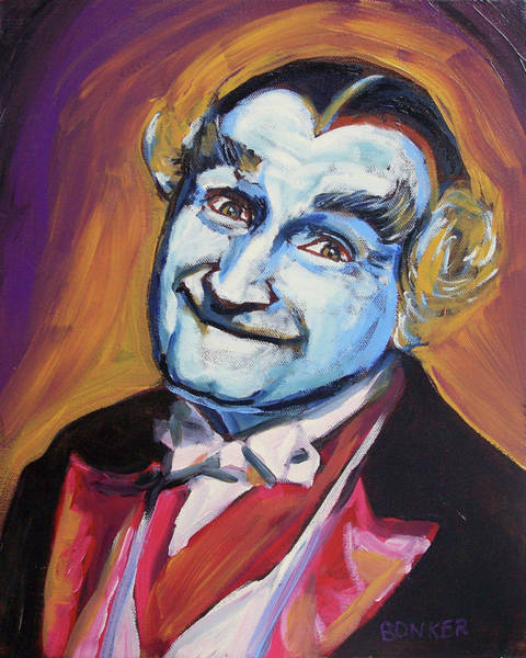 Dracula Painting - Grandpa Munster by Buffalo Bonker