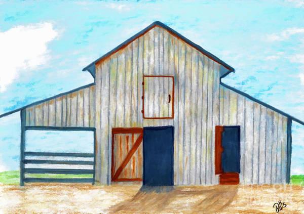 Drawing - Grandpa's Barn by D Hackett