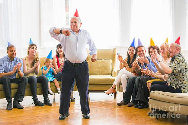 Joyful Photograph - Grandpa's Birthday Dance by Diane Diederich