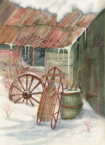 Painting - Grandpa's Clipper Sled by Marilyn Smith