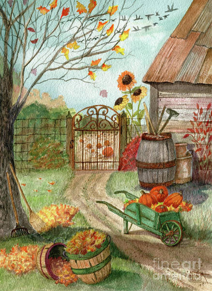 Painting - Grandpa's Pumpkin Patch by Marilyn Smith