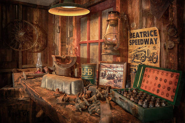 Photograph - Grandpa's Workbench by Susan Rissi Tregoning