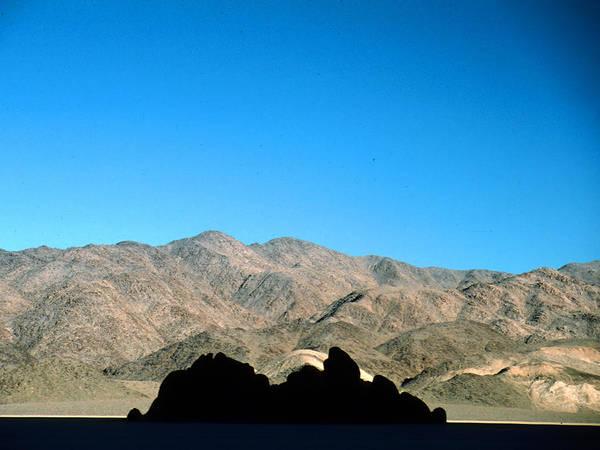 Racetrack Playa Photograph - Grandstand At Racetrack Playa Death Valley by Brian Lockett
