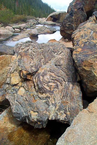 Photograph - Granite Boulder Rocky Mountain National Park by NaturesPix