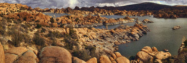 Wall Art - Photograph - Granite Dell Formations Pano Txt by Theo O'Connor