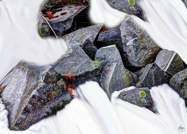 Photograph - Granite In A Snowstream by Wayne King