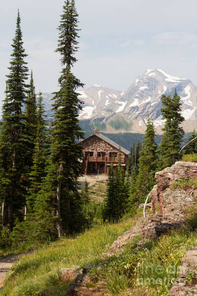 Photograph - Granite Park Chalet And Heaven's Peak 2 by Katie LaSalle-Lowery