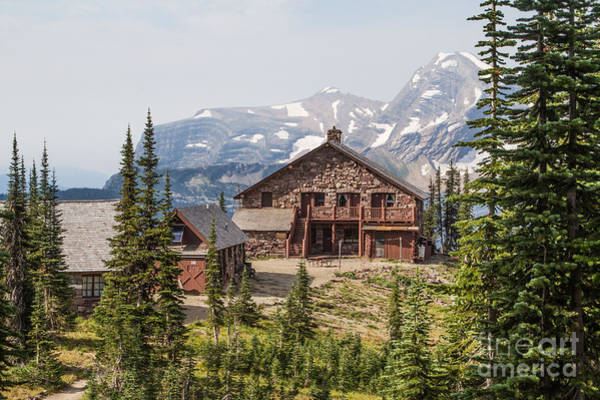 Photograph - Granite Park Chalet And Heaven's Peak 3 by Katie LaSalle-Lowery