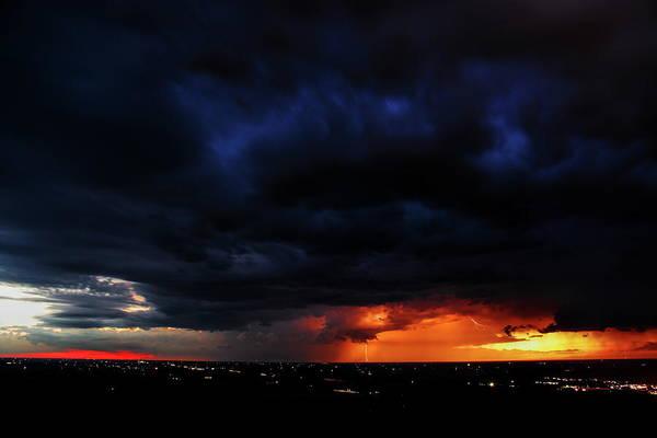 Photograph - Granite Peak Colorful Lightning by Dale Kauzlaric