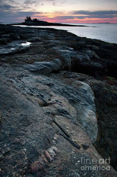 Photograph - Granite Shore, New Harbor, Maine #8189-8191 by John Bald