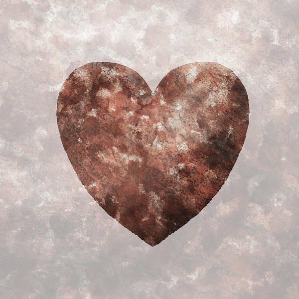 Painting - Granite Strong Heart Watercolor Silhouette by Irina Sztukowski