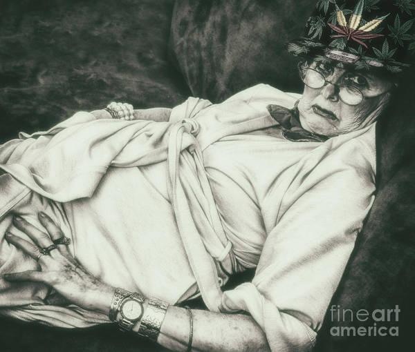 Wall Art - Photograph - Granny On Cannabis  by Steven Digman