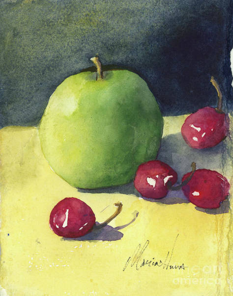 Wall Art - Painting - Granny Smith And Friends by Maria Hunt