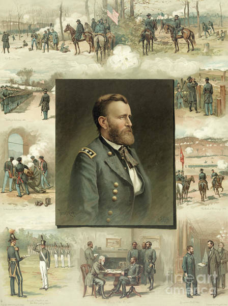 West Point Painting - Grant From West Point To Appomattox by American School