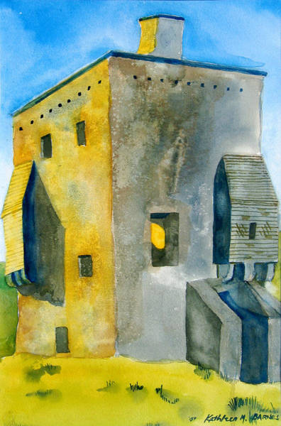 Painting - Granuaile's Castle Bright by Kathleen Barnes