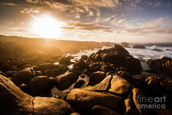 Ocean Scene Wall Art - Photograph - Granville Harbour Tasmania Sunrise by Jorgo Photography - Wall Art Gallery