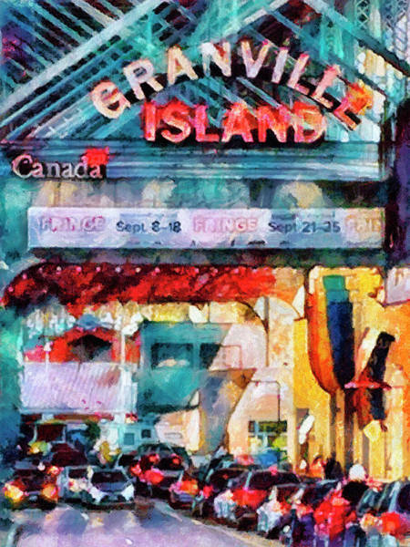 Vancouver Mixed Media - Granville Island by Joseph Hollingsworth
