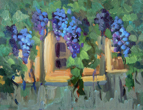 Arbor Wall Art - Painting - Grape Arbor Provence by Diane McClary