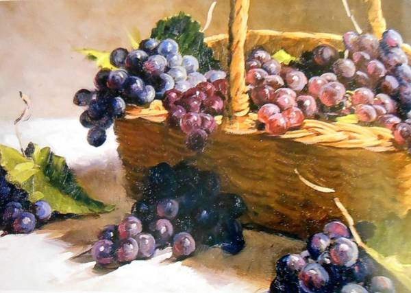 Frederick Morris Painting - Grape Basket by Lord Frederick Lyle Morris - Disabled Veteran
