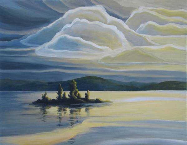 Painting - Grape Island by Barbel Smith