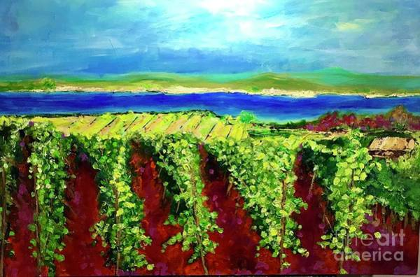 Painting - Grape One Orchard by Sherry Harradence