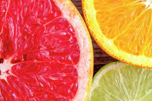 Photograph - Grapefruit Orange Lime by Teri Virbickis