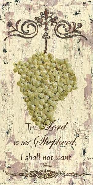 Distress Mixed Media - Grapes And Grace 2 by Debbie DeWitt