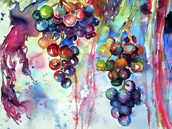 Wall Art - Painting - Grapes Cd by Kovacs Anna Brigitta