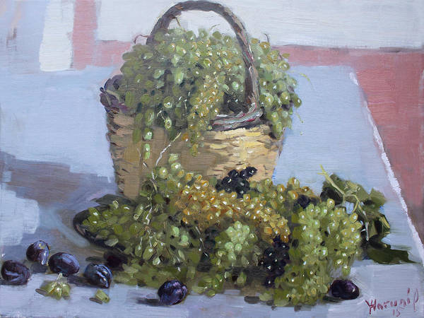 Wall Art - Painting - Grapes From Kostas Garden by Ylli Haruni