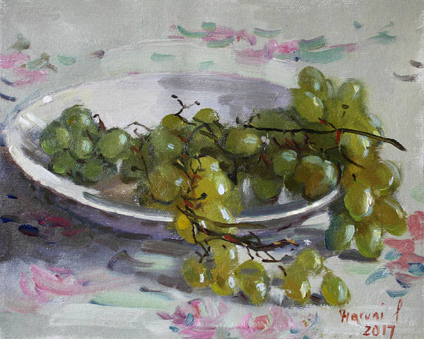 Wall Art - Painting - Grapes From Lida's Garden by Ylli Haruni