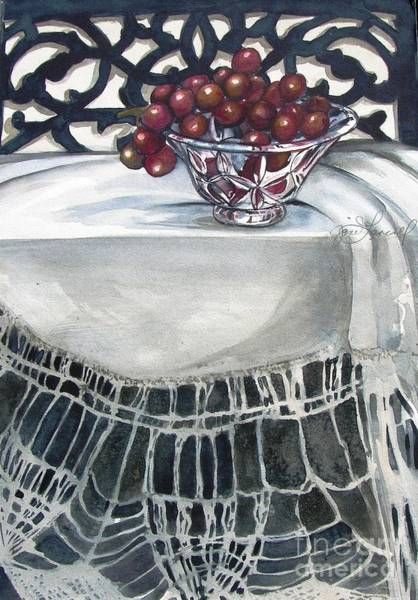 Painting - Grapes by Jane Loveall