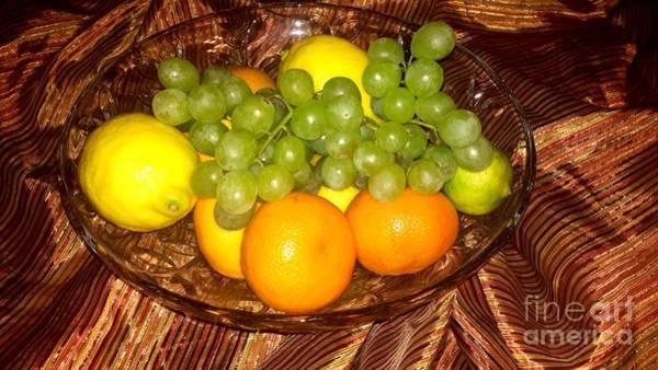 Photograph - Grapes, Lemons, Mandarins And Lime  by Oksana Semenchenko