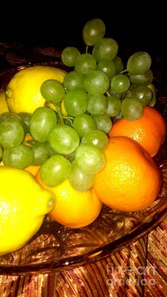 Photograph - Grapes, Mandarins, Lemons by Oksana Semenchenko