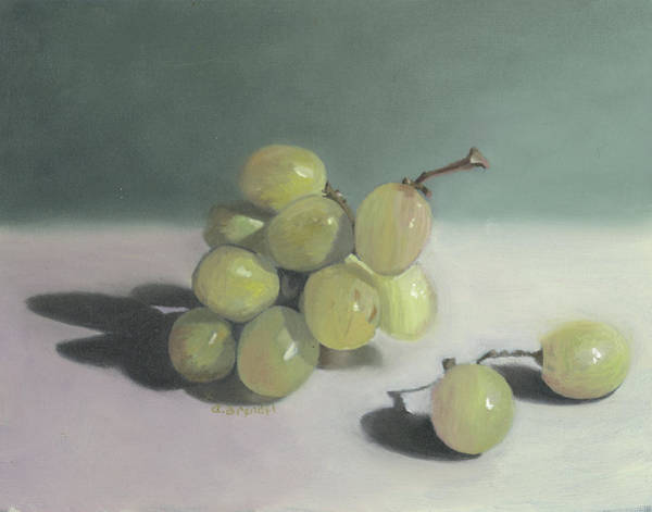 Wall Art - Painting - Grapes Still Life  by Cecilia Brendel